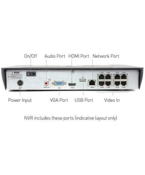 Swann SRNVR-88580H 8 Channel Security System: 4K Ultra HD NVR-8580 with 2TB HDD