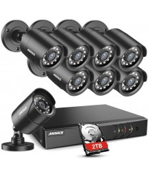 ANNKE Y200 16CH 1080N Full HD Surveillance Security Camera System with 2TB Hard Drive and 8X 1080P Outdoor Weatherproof CCTV Cameras, Super Day/Night Vision, Smartphone Remote View