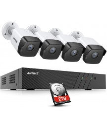 ANNKE 8CH 5MP PoE Home Security Camera System, 6MP H.265+ NVR w/2TB Surveillance HDD, 4X 5MP Wired Outdoor PoE CCTV Bullet IP Cameras, IP67 Weatherproof, 24/7 Day Night Recording, Easy Remote Access