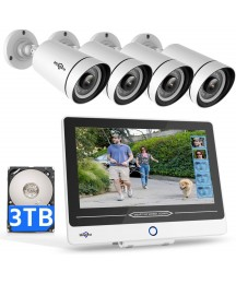 5MP PoE Security Camera System, Built-in 12