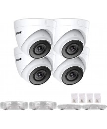 ANNKE C500 5MP PoE Security Camera 4Pcs IP Cam for ANNKE 5MP/4K NVR Security System, 2560x1920 100ft EXIR Night Vision, H.265+ Video Coding, Onvif Compliant, IP67 Weatherproof for Outdoor Indoor