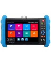 7 inch IPS Touch Screen H.265 4K IP Camera Tester CCTV CVBS Analog Tester Built in WiFi with POE/WIFI/8G TF Card/HDMI Output/RJ45 TDR/Dual Window Test/Firmware CCTV Test Monitor Network Tester
