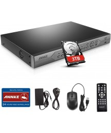 ANNKE Security Camera System 32 Channel 1080N HD Standalone DVR Recorder with 3TB Hard Drive, Easy QR Code Scan Remote View for Home Surveillance Camera System