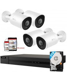Anpviz 5MP IP POE Security Camera System, 8CH 4K H.265 NVR with 2TB HDD with (4) 4MP Outdoor IP POE Bullet Cameras Home Security System with Audio, Weatherproof, 98ft Night Vision IVMS4200 Hik-Connect