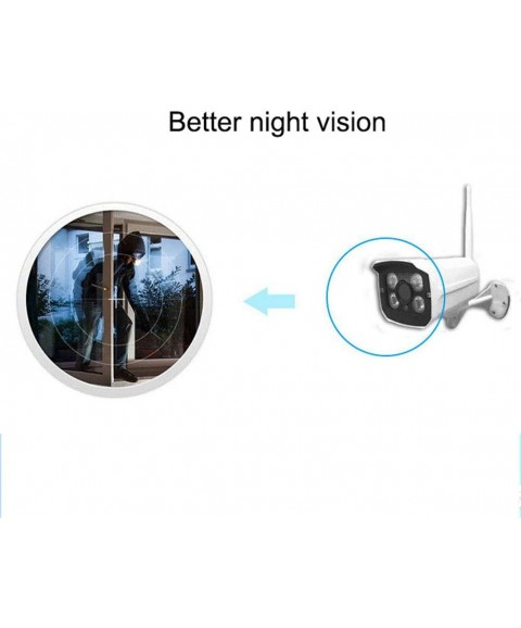 1080P Home Security Camera System Wireless, WiFi Security Camera System, 4CH 1080P NVR 4Pcs 1080P Outdoor/ Indoor WiFi Surveillance Cameras with Night Vision, Motion Detection,4T Hard Drive