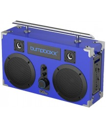 Bumpboxx Bluetooth Boombox Ultra Blue | Retro Boombox with Bluetooth Speaker | Rechargeable Bluetooth Speaker