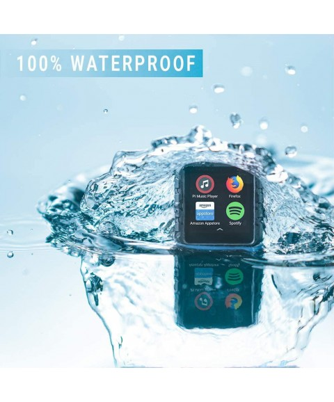 Delphin Waterproof Micro Tablet Compatible with Audible and More, Plus Built in Lap Tracking! (16GB, Swimbuds Sport)