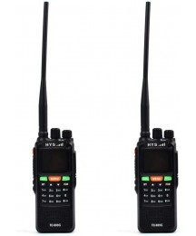 HYS Walkie Talkies Long Range Rechargeable TC-889 10W GPS FRS GMRS Dual Band VHF UHF Amateur Radio Two Way Radio with Programming Cable (2 Pack)