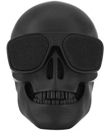 Skull Head Speaker Portable Bluetooth Speakers 8W Output Bass Stereo with DSP Compatible for Desktop PC/Laptop/Mobile Phone/MP3/MP4 Player for Halloween Unique Gift Party Traveling&Outdoor -Black