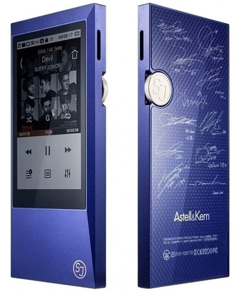Astell&Kern AK Jr MP3 Player,Hi-Res Music Player With Bluetooth,Ultra-thin Aluminum Alloy Body,Capacitive Touch Screen 64GB (Blue)