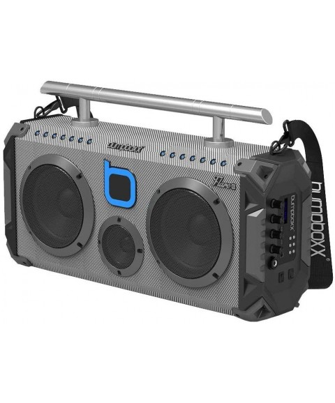 Bumpboxx Bluetooth Boombox Flare6 Carbon Fiber | Retro Boombox with Bluetooth Speaker | Rechargeable Bluetooth Speaker